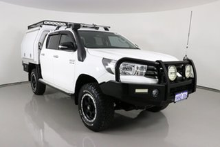 2017 Toyota Hilux GUN126R MY17 SR (4x4) White 6 Speed Manual Dual Cab Chassis.