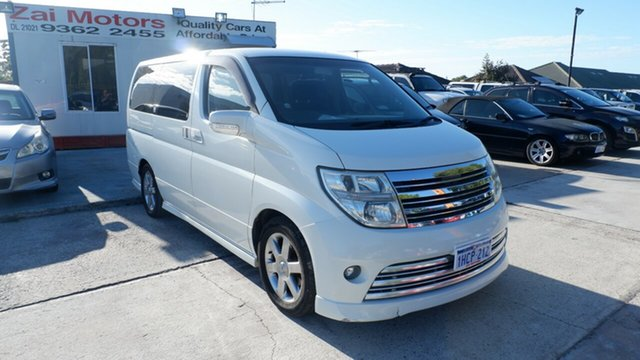 Used Nissan Elgrand E51 Highway Star St James, 2006 Nissan Elgrand E51 Highway Star White 5 Speed Automatic Wagon