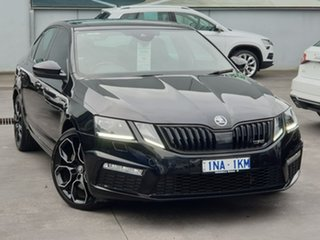 2018 Skoda Octavia NE MY18.5 RS Sedan DSG 245 Black 7 Speed Sports Automatic Dual Clutch Liftback.