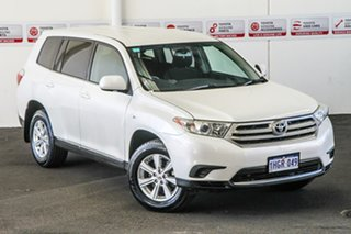 2010 Toyota Kluger GSU40R MY11 Upgrade KX-R (FWD) 5 Seat Crystal Pearl 5 Speed Automatic Wagon.
