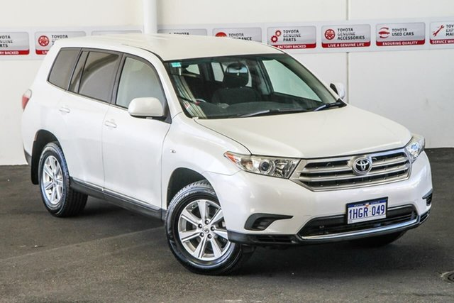 Pre-Owned Toyota Kluger GSU40R MY11 Upgrade KX-R (FWD) 5 Seat Myaree, 2010 Toyota Kluger GSU40R MY11 Upgrade KX-R (FWD) 5 Seat Crystal Pearl 5 Speed Automatic Wagon