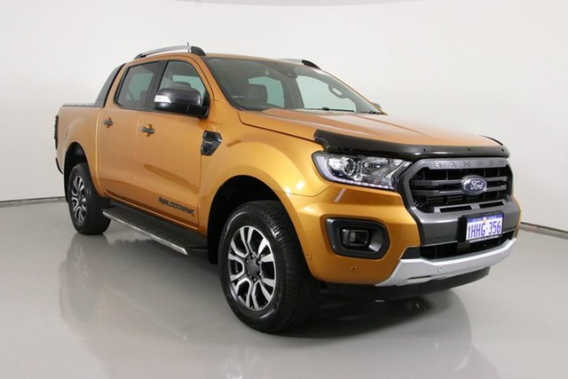 Used Ford Ranger PX MkIII MY19 Wildtrak 2.0 (4x4) Bentley, 2019 Ford Ranger PX MkIII MY19 Wildtrak 2.0 (4x4) Orange 10 Speed Automatic Double Cab Pick Up