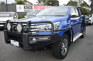 2015 Toyota Hilux GUN126R SR5 Double Cab Blue 6 Speed Manual Utility.
