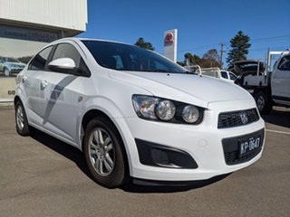 2012 Holden Barina TK MY11 White 4 Speed Automatic Sedan.