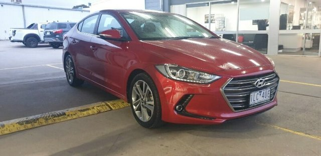 Used Hyundai Elantra AD MY18 Elite Melton, 2017 Hyundai Elantra AD MY18 Elite Fiery Red 6 Speed Sports Automatic Sedan