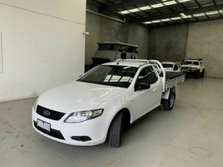 2010 Ford Falcon FG Super Cab White 4 Speed Sports Automatic Cab Chassis.