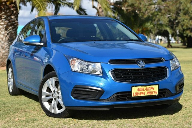 Used Holden Cruze JH Series II MY15 Equipe Cheltenham, 2015 Holden Cruze JH Series II MY15 Equipe Blue 6 Speed Sports Automatic Hatchback