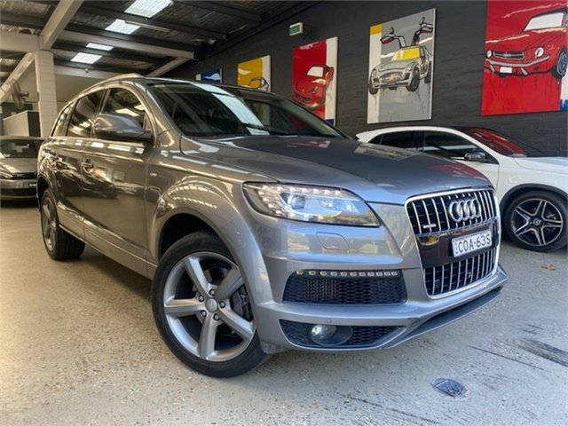 Used Audi Q7 TDI Glebe, 2013 Audi Q7 TDI Grey Sports Automatic Wagon
