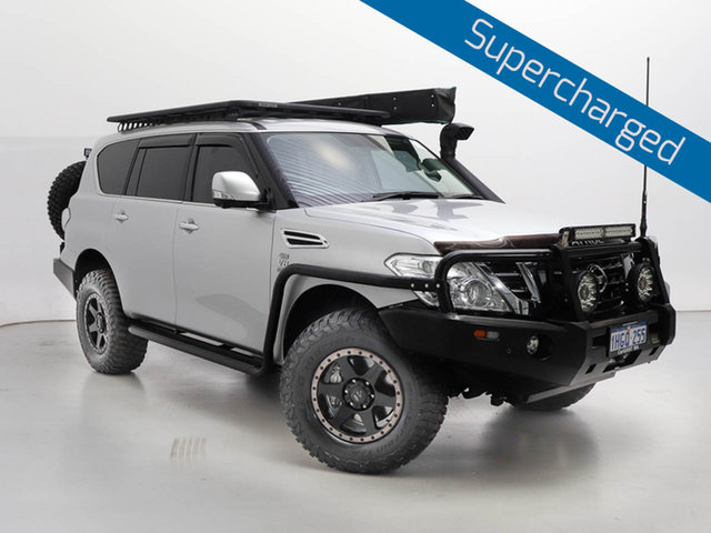 Used Nissan Patrol Y62 Series 4 MY18 TI (4x4), 2019 Nissan Patrol Y62 Series 4 MY18 TI (4x4) Silver, Chrome 7 Speed Automatic Wagon