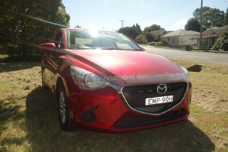 2018 Mazda 2 DL2SAA Maxx SKYACTIV-Drive Red 6 Speed Sports Automatic Sedan.