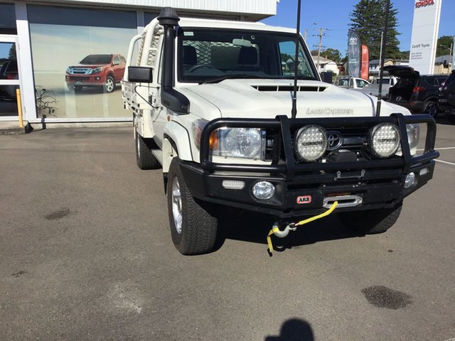 Pre-Owned Toyota Landcruiser VDJ79R GXL Cardiff, 2018 Toyota Landcruiser VDJ79R GXL White 5 Speed Manual Cab Chassis