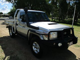 2013 Toyota Landcruiser VDJ79R MY12 Update GX (4x4) Silver Pearl 5 Speed Manual Cab Chassis.