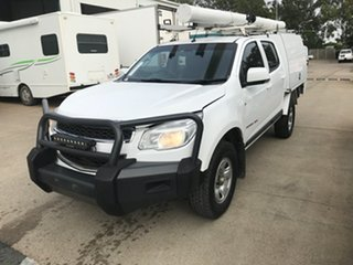 2016 Holden Colorado RG MY16 LS Crew Cab White 6 speed Automatic Cab Chassis.