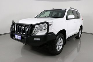 2015 Toyota Landcruiser Prado GRJ150R MY16 GXL (4x4) White 6 Speed Automatic Wagon.