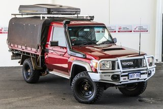 2012 Toyota Landcruiser VDJ79R 09 Upgrade GXL (4x4) Merlot Red 5 Speed Manual Cab Chassis.