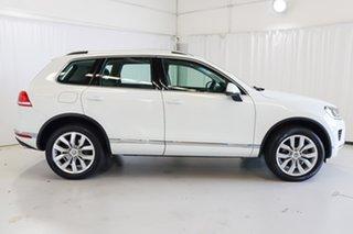 2015 Volkswagen Touareg 7P MY15 V6 TDI Tiptronic 4MOTION White 8 Speed Sports Automatic Wagon.