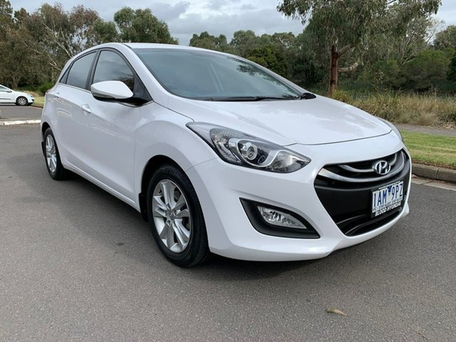 Used Hyundai i30 GD Elite Geelong, 2013 Hyundai i30 GD Elite White 6 Speed Sports Automatic Hatchback