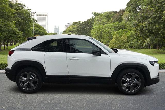 Demo Mazda MX-30 DR2W7A G20e SKYACTIV-Drive Astina Paradise, 2021 Mazda MX-30 DR2W7A G20e SKYACTIV-Drive Astina Arctic White 6 Speed Sports Automatic Wagon