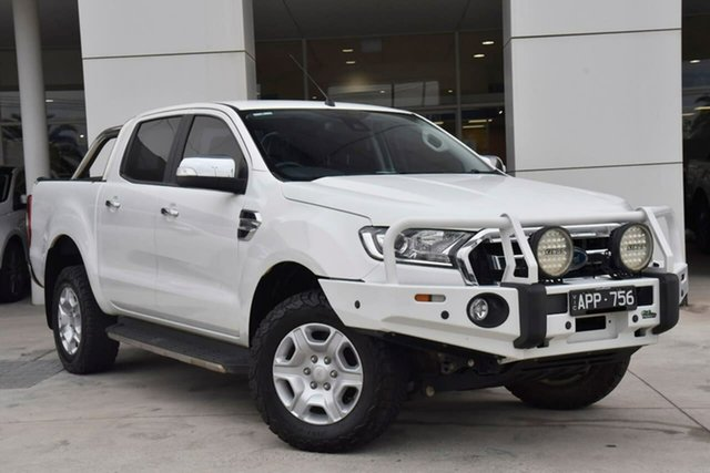 Used Ford Ranger PX MkII XLT Double Cab 4x2 Hi-Rider Oakleigh, 2016 Ford Ranger PX MkII XLT Double Cab 4x2 Hi-Rider White 6 Speed Manual Utility
