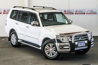 2017 Mitsubishi Pajero NX MY17 Exceed LWB (4x4) White 5 Speed Auto Sports Mode Wagon.