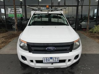 2013 Ford Ranger PX XL 3.2 (4x4) White 6 Speed Manual Super Cab Chassis.