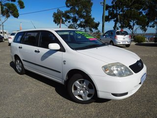 2004 Toyota Corolla ZZE122R Ascent White 4 Speed Automatic Wagon.