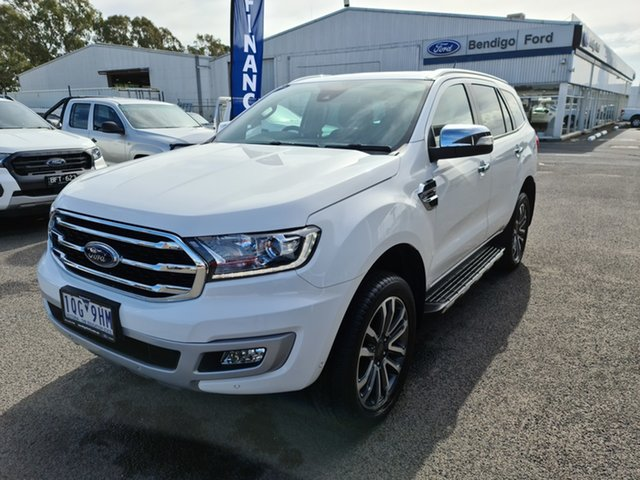 Used Ford Everest UA II 2019.75MY Titanium Epsom, 2019 Ford Everest UA II 2019.75MY Titanium White 10 Speed Sports Automatic SUV