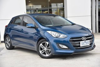 2016 Hyundai i30 GD4 Series II MY17 Active X Blue 6 Speed Sports Automatic Hatchback.