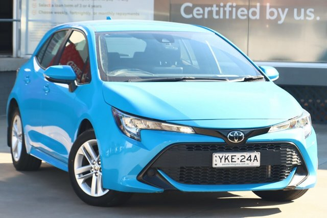 Pre-Owned Toyota Corolla Mzea12R Ascent Sport Guildford, 2019 Toyota Corolla Mzea12R Ascent Sport Eclectic Blue 10 Speed Constant Variable Hatchback