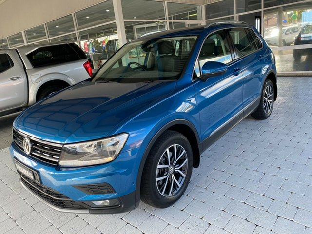 Used Volkswagen Tiguan Taree, 2017 Volkswagen Tiguan 110TDI - Comfortline Caribbean Blue Sports Automatic Dual Clutch Wagon