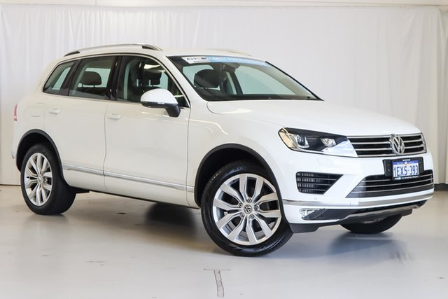 Used Volkswagen Touareg 7P MY15 V6 TDI Tiptronic 4MOTION Wangara, 2015 Volkswagen Touareg 7P MY15 V6 TDI Tiptronic 4MOTION White 8 Speed Sports Automatic Wagon