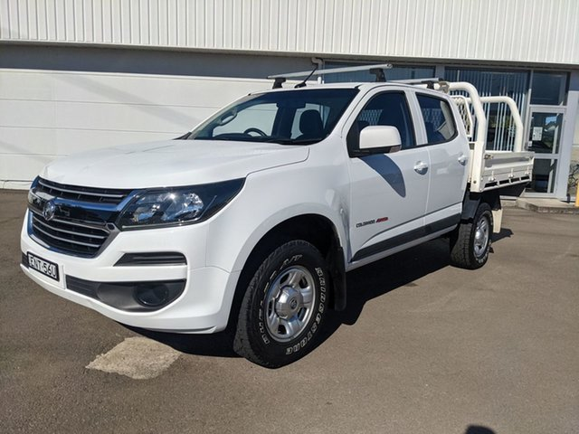 Pre-Owned Holden Colorado RG MY19 LS Pickup Crew Cab Cardiff, 2018 Holden Colorado RG MY19 LS Pickup Crew Cab White 6 Speed Sports Automatic Utility