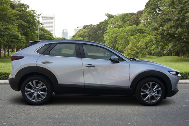 Demo Mazda CX-30 DM2W7A G20 SKYACTIV-Drive Touring Paradise, 2021 Mazda CX-30 DM2W7A G20 SKYACTIV-Drive Touring Sonic Silver 6 Speed Sports Automatic Wagon