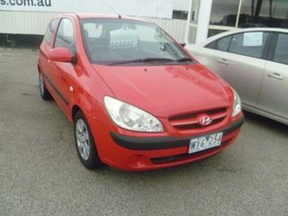 2007 Hyundai Getz TB MY07 Click Red 5 Speed Manual Hatchback.