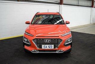2018 Hyundai Kona OS.2 MY19 Highlander D-CT AWD Orange 7 Speed Sports Automatic Dual Clutch Wagon.