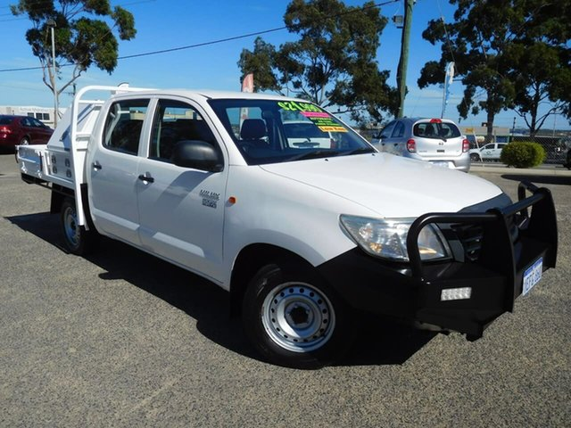 Used Toyota Hilux TGN16R MY14 Workmate Double Cab 4x2 Wangara, 2013 Toyota Hilux TGN16R MY14 Workmate Double Cab 4x2 White 4 Speed Automatic Utility