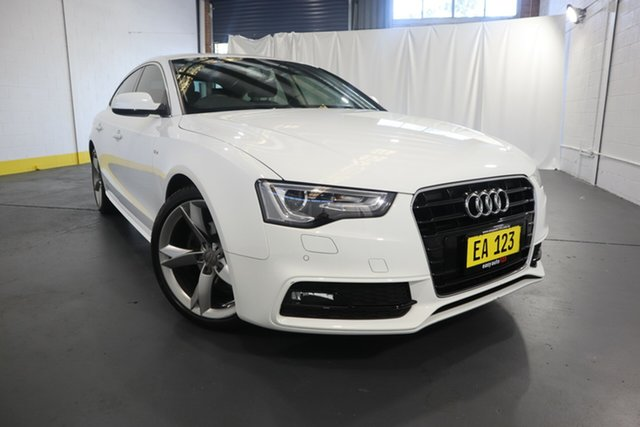 Used Audi A5 8T MY15 Sportback Multitronic Castle Hill, 2014 Audi A5 8T MY15 Sportback Multitronic White 8 Speed Constant Variable Hatchback