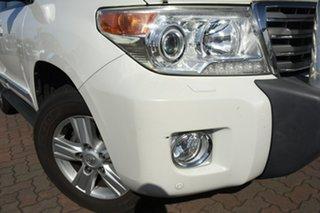 2013 Toyota Landcruiser VDJ200R MY12 Sahara White 6 Speed Sports Automatic SUV.