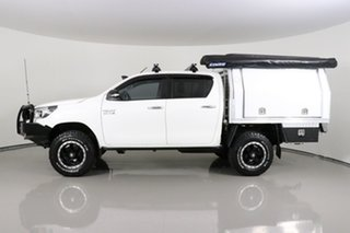 2017 Toyota Hilux GUN126R MY17 SR (4x4) White 6 Speed Manual Dual Cab Chassis