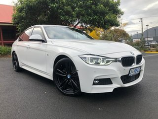 2018 BMW 3 Series F30 LCI 330i M Sport White 8 Speed Sports Automatic Sedan.