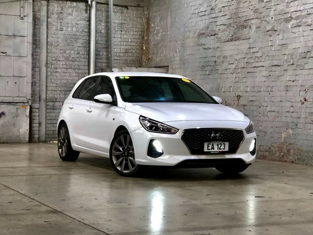 Used Hyundai i30 PD2 MY18 SR D-CT Mile End South, 2018 Hyundai i30 PD2 MY18 SR D-CT White 7 Speed Sports Automatic Dual Clutch Hatchback