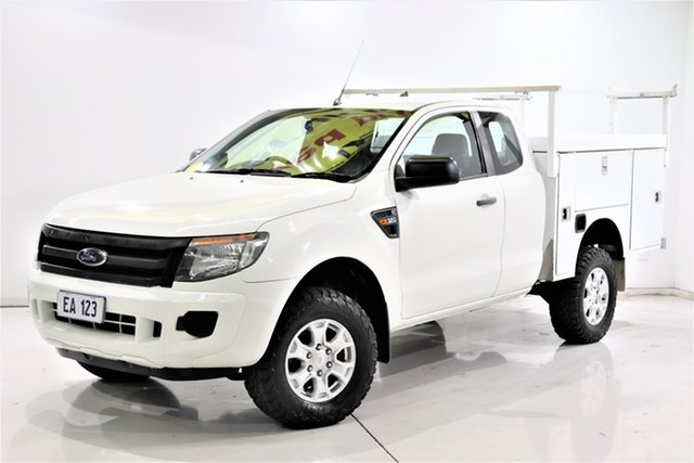 Used Ford Ranger PX XL Brooklyn, 2014 Ford Ranger PX XL White 6 Speed Manual Cab Chassis