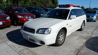 2001 Subaru Outback B3A MY01 H6 AWD White 4 Speed Automatic Wagon.