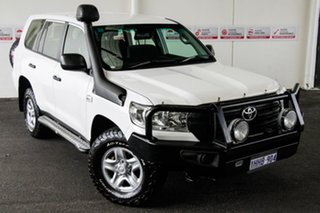 2016 Toyota Landcruiser VDJ200R MY16 GX (4x4) Glacier White 6 Speed Automatic Wagon.