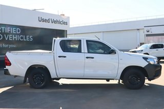 2020 Toyota Hilux TGN121R Workmate Double Cab 4x2 Glacier White 6 Speed Automatic Dual Cab
