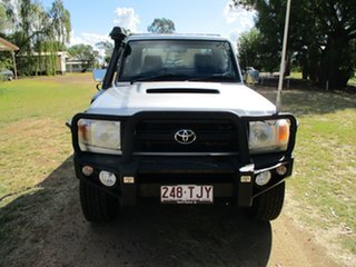 2013 Toyota Landcruiser VDJ79R MY12 Update GX (4x4) Silver Pearl 5 Speed Manual Cab Chassis