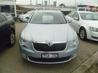2010 Skoda Superb 3T MY11 Ambition DSG 118TSI Blue 7 Speed Sports Automatic Dual Clutch Wagon.