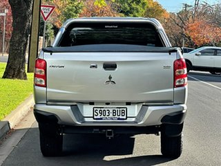 2017 Mitsubishi Triton MQ MY18 GLX+ Double Cab Silver 5 Speed Sports Automatic Utility