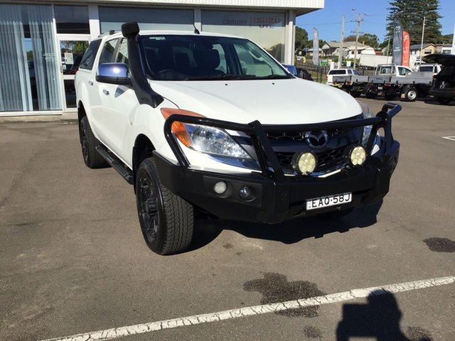 Pre-Owned Mazda BT-50 UP0YF1 GT Cardiff, 2013 Mazda BT-50 UP0YF1 GT White 6 Speed Sports Automatic Utility