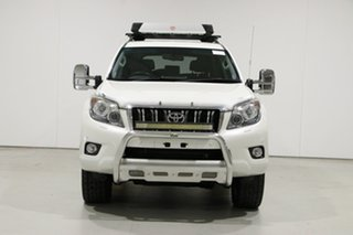 2012 Toyota Landcruiser Prado KDJ150R 11 Upgrade VX (4x4) White 5 Speed Sequential Auto Wagon.